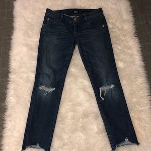 Hudson Collin flap skinny crop jeans, size 27